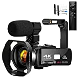 "Video Camera 4K HD 48MP 18X Digital Zoom for YouTube Video Camera 3.0"" LCD Touch Screen IR Night Vision Camcorder with Portable Handheld Stabilizer usb charger cable Jan, 2021"