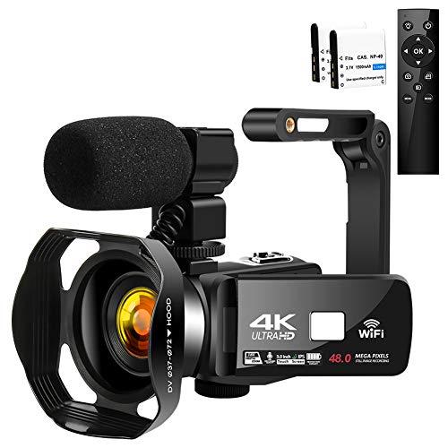 Camcorder 4K HD 48MP Video Camera 18X...
