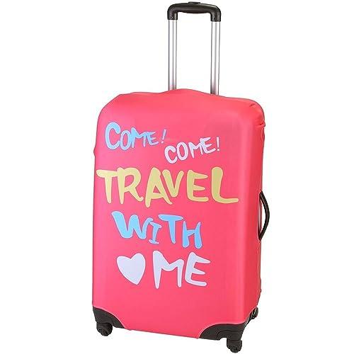 La Chaise Longue 33-1V-001M Housse de valise extensible Travel with me Rose Petit modèle Polyester et lycra 50 x 67 cm
