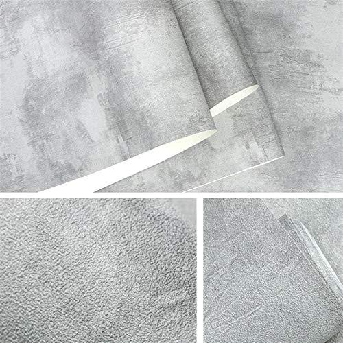 Cajones de cocina Gabinetes Estantes encimeras Wal El papel for pared de PVC gris oscuro Vinilo Vintage muro de hormigón Efecto Papel pintado retro Textura normal Habitación Sala Fondo de la decoració