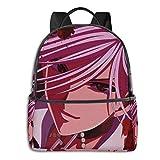 School Bag,Mochila Rosario + Vampire Moka, Bolsos Universitarios Decorativos para Viajes Al Aire Libre,37cm(H) x30.5cm(W)