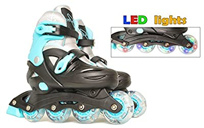 Vilano Adjustable Inline Skates for Boys or Girls, Lighted
