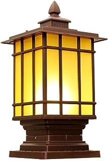 SYLOZ-Q Column Headlight - Candle Light Glass Landscape Door Lamp Villa Lawn Courtyard Wall Rust Pillar Street Light