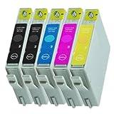 5Cartuchos de Tinta para Epson Stylus D68DX4200DX3850Reemplazar T0611T0612T0613T0614T0615