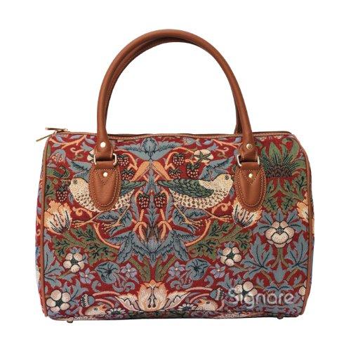 Signare - Borsa da viaggio firmata William Morris con fiore e uccello