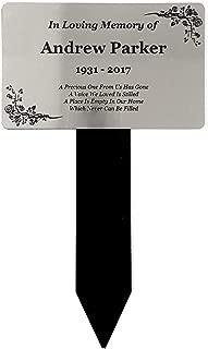 Origin Personalised Silver Memorial Plaque Stake Acrylic