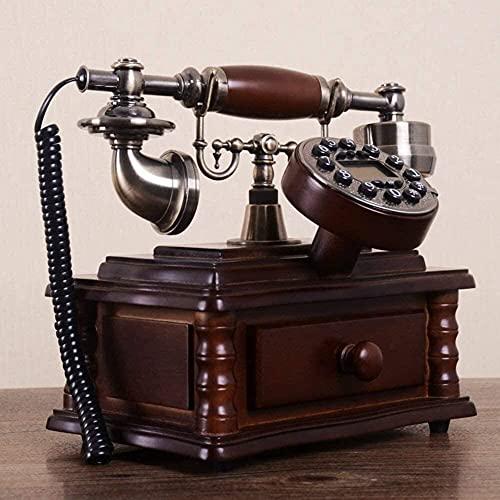 TAIDENG Teléfono Antiguo Teléfono Decoración de Estilo Europeo [Roma], Pilar, Estilo Europeo Teléfono Móvil Europeo [Retro], [Crear], [Modelado] -A Adorno de decoración de Escritorio para el hogar