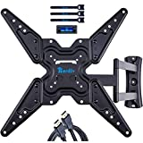 RENTLIV Full Motion TV Wall Mounts TV Bracket for Most 26-55' TVs, up to VESA 400 x 400 mm and 99 lbs., TV Mount with Swivel Articulating 19' Extension Arm, Easy Single Stud Installation