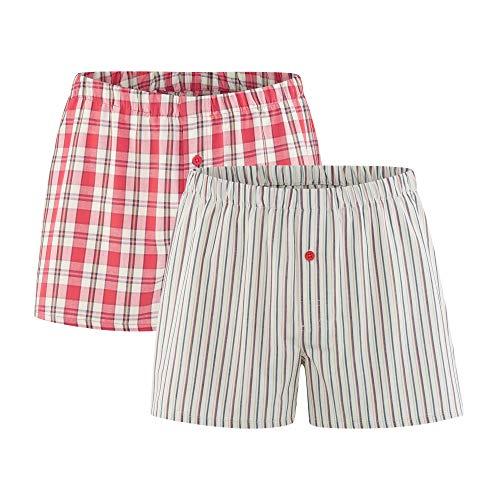 Living Crafts Boxer-Shorts, 2er-Pack XL, Cayenne/Natural