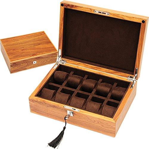 TRE Rosenholz Palisander Schmuck-Box/ Rotes Sandelholz Holz Uhrenbox/ Uhrenbox/ Watch Aufbewahrungsbox/ Tisch-Box/ mechanische Zähler-Box-A