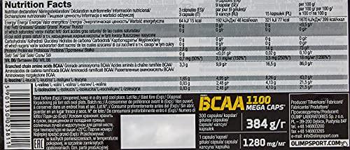Olimp BCAA Mega Caps 1100, 300 Kapseln, 1er Pack (1 x 384 g) - 4