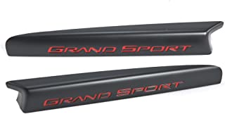 2010-13 Corvette Grand Sport Centennial Black & Red Fender Plate Emblems; 100th Anniversary OEM GM w/Hardware