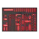 STIER Weichschaumeinlage (EVA) für Steckschlüssel-Satz 179-teilig, leer