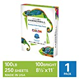 Hammermill Premium Color Copy Cover 100lb Cardstock, 8.5 x 11, 1 Pack, 250 Sheets, Made in USA, Sourced From American Family Tree Farms, 100 Bright, Acid Free, Heavy-weight Printer Paper, 120024R