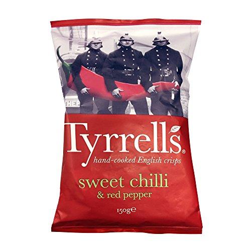 Tyrrells Handcooked Crisps Sweet Chili, 150g