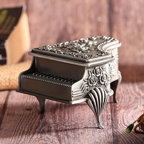 Evonecy Organizador de joyero, Caja de Almacenamiento de joyería Vintage, Pendientes para Guardar Collar(Small 6 * 8.5 * 5)