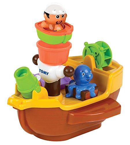 TOMY E71602 Spielzeug Schiff Piratenschiff Mehrfarbig, Hochwertiges Kleinkindspielzeug, Piratenschiff Spielzeug für die Badewanne, Boot Badewanne, Boot Spielzeug, Badewannenspielzeug, Ab 18 Monaten