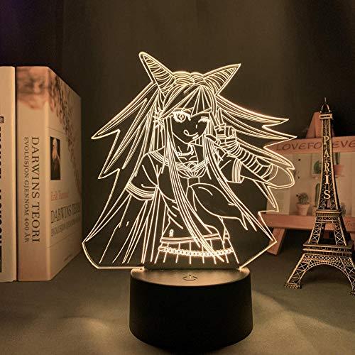 Valentinstag Danganronpa Led Nachtlicht Ibuki Mioda Lampe für Schlafzimmer Dekor Kinder Geschenk Danganronpa Acryl 3d Lampe Ibuki Mioda DUYAO00