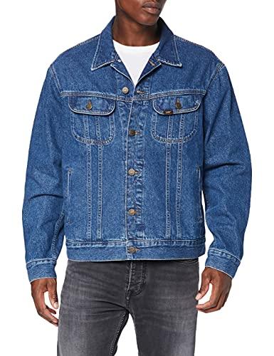 Lee Herren Rider Jacket' Jeansjacke, Bleu (Get Dark Pt), Medium
