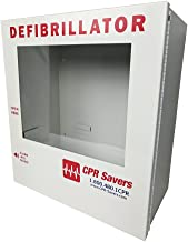 CPR Savers Surface Mount AED Defibrillator Cabinet (with Alarm)