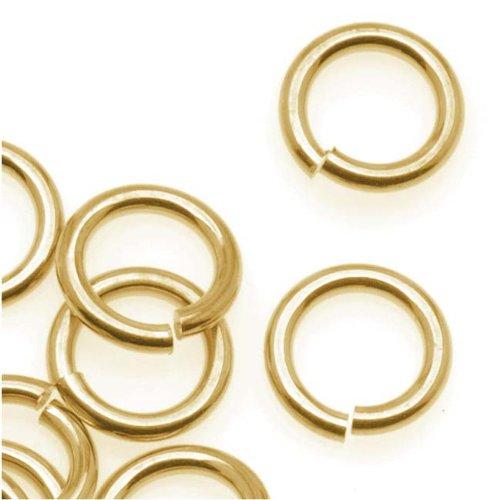 Beadaholique 14K Gold Plated JUMPLOCK Jump Rings 8mm Diameter 16 Gauge...