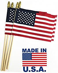 """in budget affordable GIFTEXPRESS Made in the USA Proudly made 12 pieces Small American Flag 4 """"x 6″ / Small USA Flag / Mini …"""