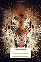 Composition Notebook: Tiger Splatter Artwork Composition Notebook for Students