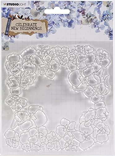 Studio Light Clear Stamp - Backgro& Celebrate New Beginnings nr.518