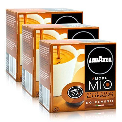 3x Lavazza A Modo Mio Kapseln Caffè Crema Lungo ( 48 Kapseln )