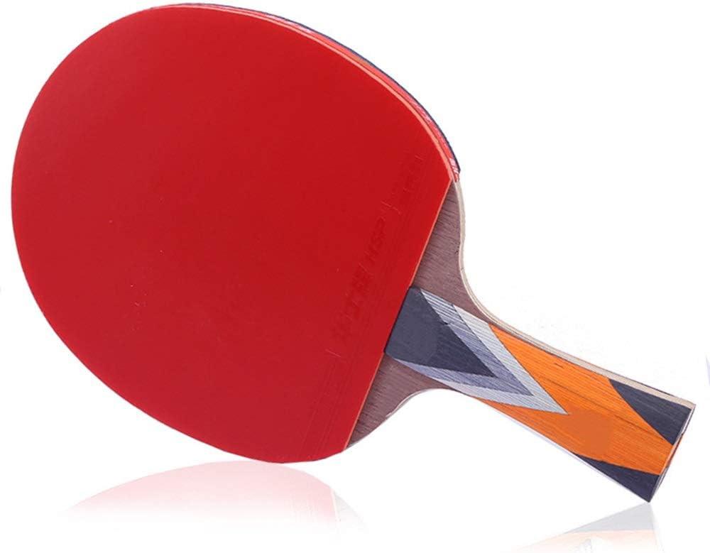 KPOON Pádel de Mesa Mesa de Ping Pong Raqueta de Doble Cara Seis Estrellas Anti-Adhesivo Profesional Competencia Raqueta con la Raqueta Paleta de Ping Pong dúplex
