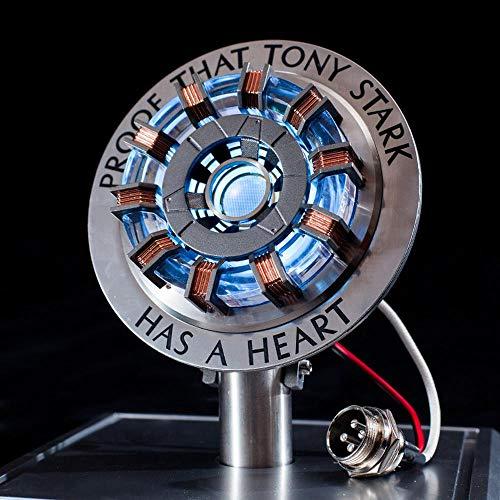 BLL Lámpara de Cofre del Reactor Iron Man ARC de Primera generación, Modelo de Reactor de aleación Juguete Hobby colección Regalo de Novio MK2