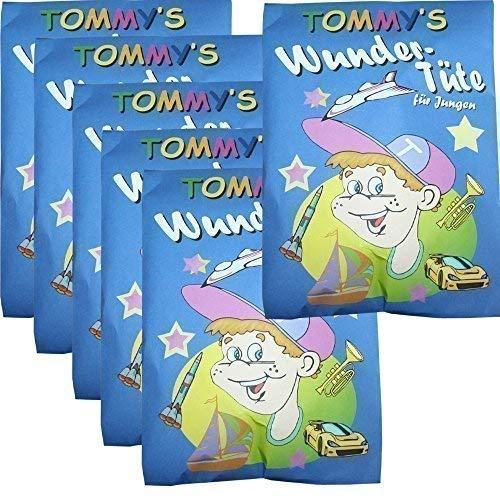 TE-Trend 6 Stück Tommy's Wundertüte Partytüte Kindergeburtstag Party Geburtstag Jungen Überraschung