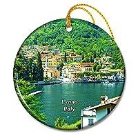 イタリアレンノコモ湖クリスマスオーナメントセラミックシート旅行お土産ギフト