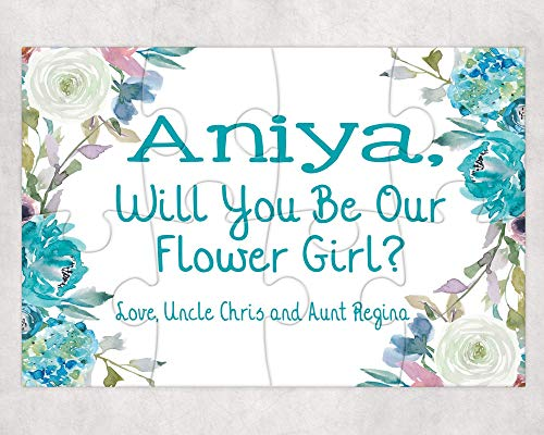 Pretty Phoxie Flower Girl Proposal Puzzle - Will You Be My Flower Girl - Custom Puzzle