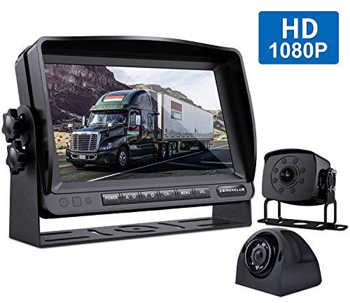 WX02 ZEROXCLUB Digital Wireless Backup Camera System Kit No Interference IP69 Waterproof Wireless Rearview Camera 7/'/'Wireless Reversing Monitor for Truck//Semi-Trailer//RV//Box Truck PDSKC-ELEFHTKCS