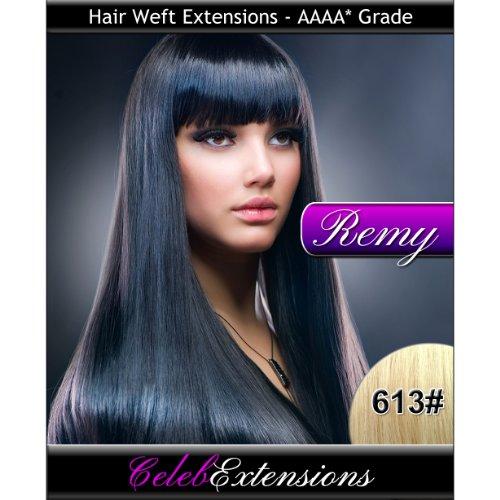 50,8 cm 613 # Blond Clair Remy extensions capillaires Cheveux indiens 100% humains tissage. Lisse et Soyeux 6 m Poids : 100 g AAAA de grande qualité. Qualité. Par celebextensions
