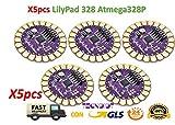 TECNOIOT 5pcs Lilypad 328 Main Board ATmega328P ATmega328 16M