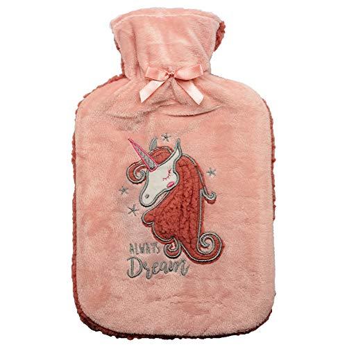 Bolsa de Agua Caliente Termica Calentador Cama con Forro Gin Prosecco Unicornio Accesorio para Mujer Hombre Accesorios Habitacion para toda la Familia (Unicornio)