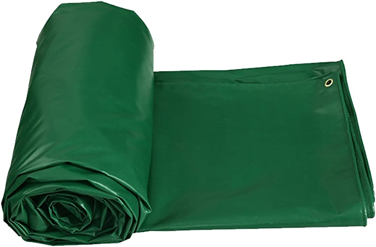 D_HOME écran Solaire extérieur Tente épissure auvent Abat-Jour imperméable à l'eau Couvre-Sol imperméable Couvre-lit Tissu épais épaissir bache résistante à l'eau-Vert, 450G   M2 (Taille   4  5m)