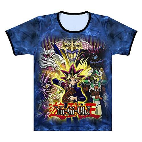Yu-Gi-Oh Sommer Rundhals Bedruckt Kurzarm für Männer und Frauen T-Shirt Oberteil