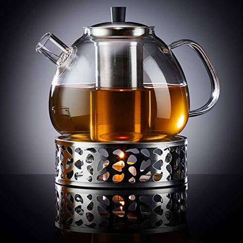 Zoë&Mii hochwertige Teekanne aus Glas mit Deckel, Glas und Stövchen für losen Tee - Glas...