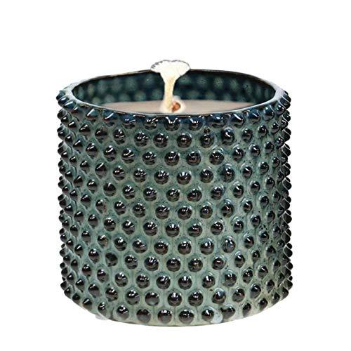 Der Perlenspieler® Indoor/Outdoor-Kerzenschmelzer aus glasierter Keramik-mit 3D-Struktur-Blau-ca. 10 cm x 10 cm
