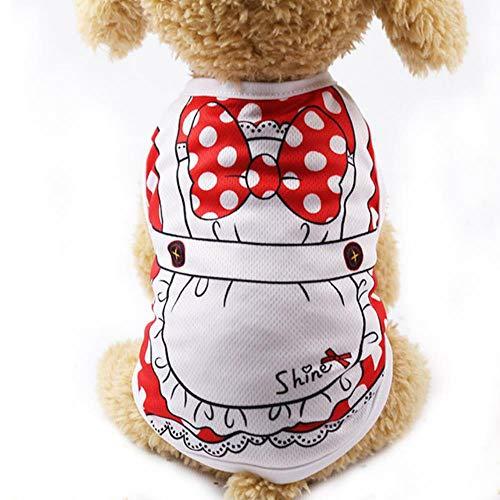GOUSHENG-Kostuums Huisdieren Kleding Jurken Cartoon Huisdier Hond Kleding Voor Hond Zomer Puppy Vest Kleding Voor Kleine Honden Chihuahua Yorkshire Shirt Huisdier T-Shirt Kat Kostuum 6C4Q, S, Wit Kant