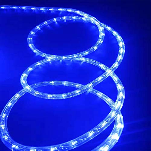 Asparkle UL Listed 18Ft 216 Blue LED Flexible Rope Lights Kit, Indoor/Outdoor Lighting, Home, Garden, Patio, Shop Windows, Christmas, New Year, Wedding, Birthday, Party, Event (Blue)