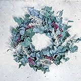 Corona de navidad de eucalipto preservado