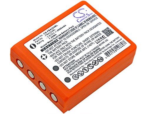 HBC BA223000, BA223030, FUB6 Battery - Replacement for HBC Radiomatic Quadrix, Radiomatic Keynote, Radiomatic Patrol D, Radiomatic Micron 4, Radiomatic Micron 5 (Ni-MH,3.60V,2000mAh / 7.20Wh )