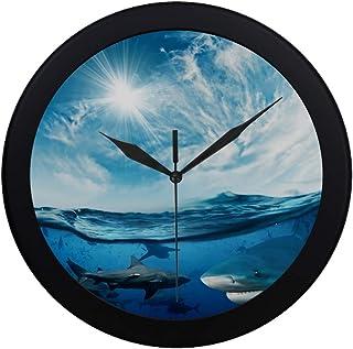 Modern Simple Beautiful Cloudy Divine Sunlight Dangerous Wall Clock Indoor Non-Ticking Silent Quartz Quiet Sweep Movement ...