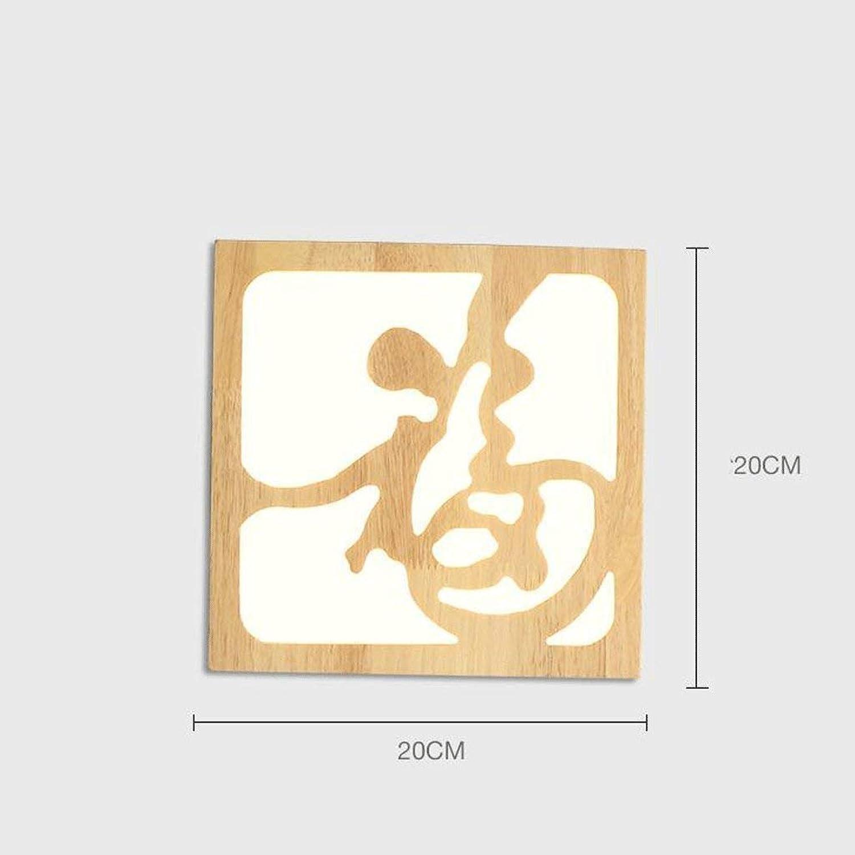 Modernes kreatives, EIN einfacher Empfang, zum von Gegenstnden der Dekoration-Wand-Lampen-Schlafzimmer-Nachttisch-Lampe zu starten Führte Wand-Lampen-Feste Holz-Klotz (Farbe  (B) (Farbe   B)