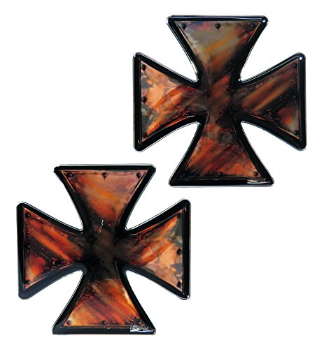 Aufkleber-Set 3D 910049 Iron Cross Eisernes Kreuz Rost Sticker Doming