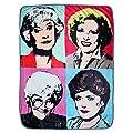 Golden Girls Themed Warhol Fleece Blanket Comforter   45 x 60 Inches Stadium Blanket